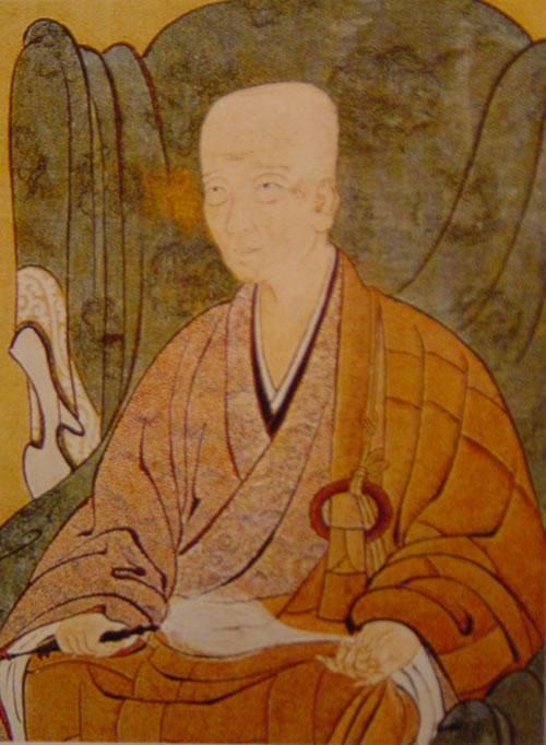 Эйсай (栄西), 1141-1215 гг., основатель японской школы Риндзай, популяризатор культуры чая в Японии