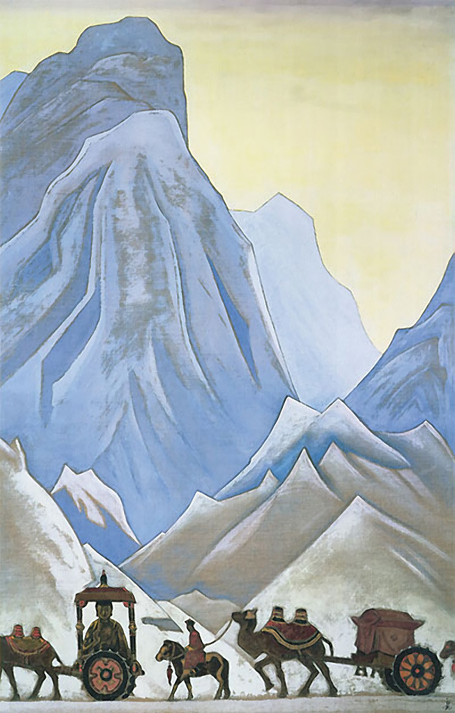 """""""Приданое китайской принцессы Вен-Чин"""", Н. К. Рерих, 1929"""