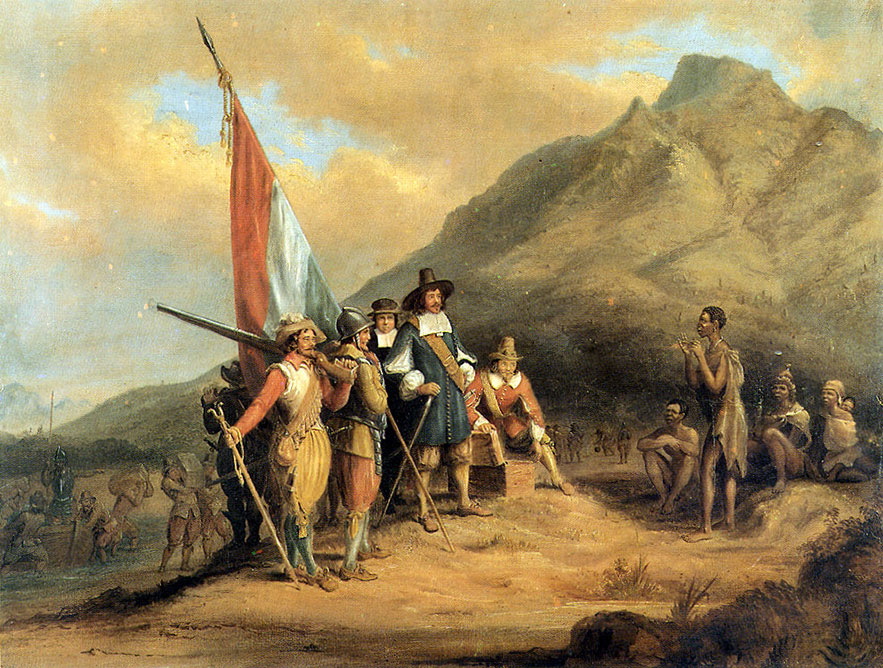 «Прибытие Яна ван Рибека на мыс Доброй Надежды», 1652 г.