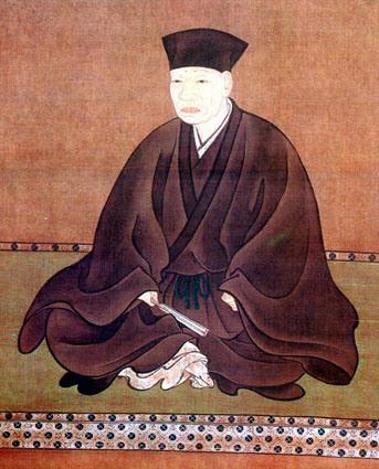 Сэн-но Рикю (千利休), наиболее влиятельная фигура в становлении японской чайной церемонии (1522-1591)